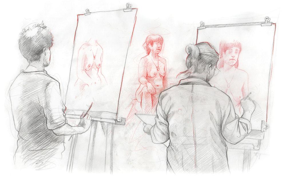 Les Cours Atelier Et Galerie D Art L Imagerie